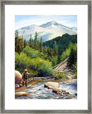 Rocky Mountain High Framed Print by Mary Giacomini