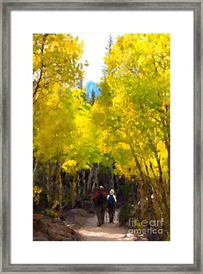 Rocky Mountain Hike Framed Print