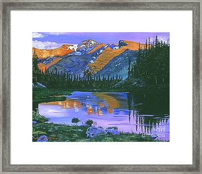 Rocky Mountain Lake Framed Print by David Lloyd Glover