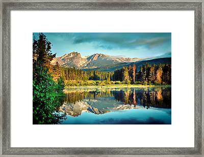 Rocky Mountain Morning - Estes Park Colorado Framed Print by Gregory Ballos