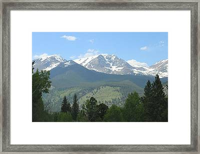 Framed Print featuring the photograph Rocky Mountain National Park - 2 by Christy Pooschke
