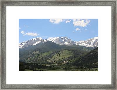 Framed Print featuring the photograph Rocky Mountain National Park - 3  by Christy Pooschke