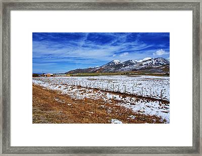 Rocky Mountain Ranch Framed Print by Aidan Moran