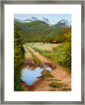 Rocky Mountain Reflections Framed Print by Mary Giacomini