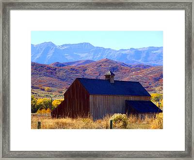 Framed Print featuring the photograph Rocky Mountain Retreat by Jackie Carpenter