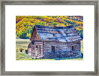 Rocky Mountain Rural Rustic Cabin Autumn View Framed Print by James BO  Insogna