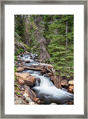 Rocky Mountain Stream Framed Print
