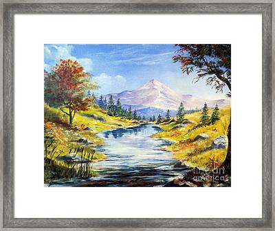 Rocky Mountain Stream Framed Print by Lee Piper