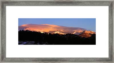 Framed Print featuring the photograph Rocky Mountain Sunrise by Craig T Burgwardt