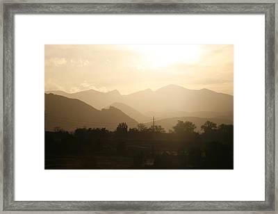 Rocky Mountain Sunset 1 Framed Print