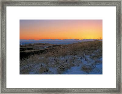 Rocky Mountain Sunset Framed Print by Terry Reynoldson