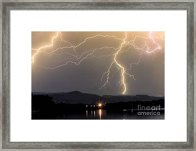 Rocky Mountain Thunderstorm  Framed Print