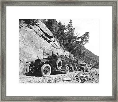 Rocky Mountain Touring Cars Framed Print by Underwood Archives
