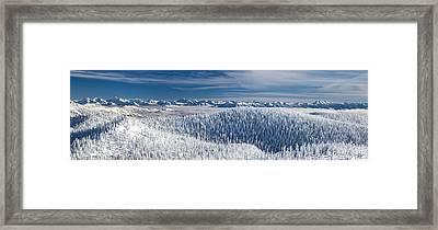 Rocky Mountain Winter Framed Print by Aaron Aldrich