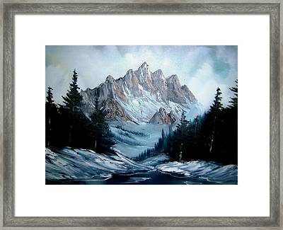 Rocky Mountain Winter Framed Print by Samuel Jaycox