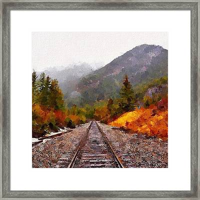 Rocky Mountaineer Framed Print by Chris Butler