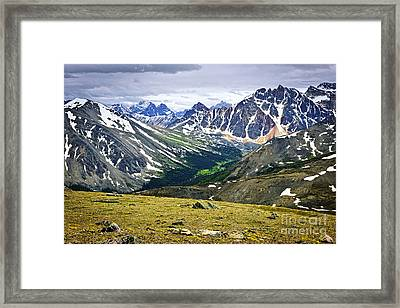 Rocky Mountains In Jasper National Park Framed Print by Elena Elisseeva