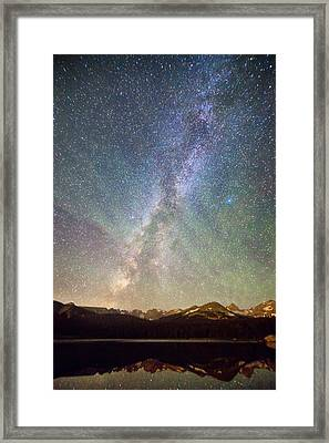 Rocky Mountains Indian Peaks Milky Way Rising Framed Print by James BO  Insogna