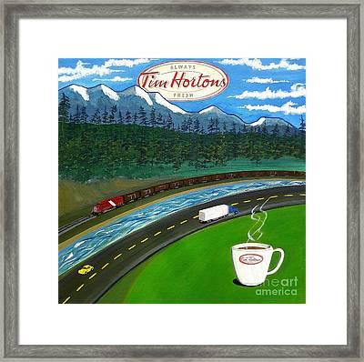 Rocky Mountains Framed Print by John Lyes