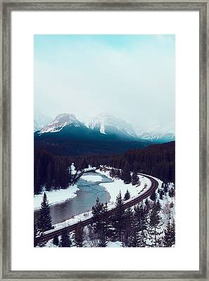 Rocky Mountains Framed Print by Kim Fearheiley
