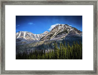 Framed Print featuring the photograph Rocky Mountains Kootenay National Park by Rob Tullis