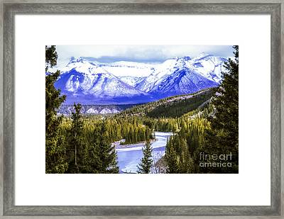 Rocky Mountains Landscape Framed Print by Elena Elisseeva