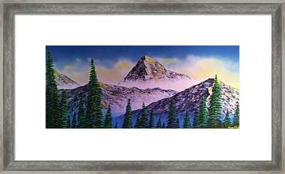 Framed Print featuring the painting Rocky Mountains by Michael Rucker