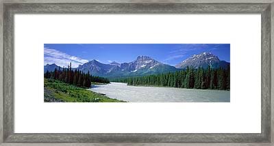 Rocky Mountains Near Jasper, Alberta Framed Print