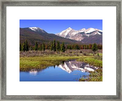 Rocky Mountains Peaks Framed Print by Olivier Le Queinec