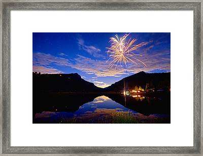 Rocky Mountains Private Fireworks Show Framed Print
