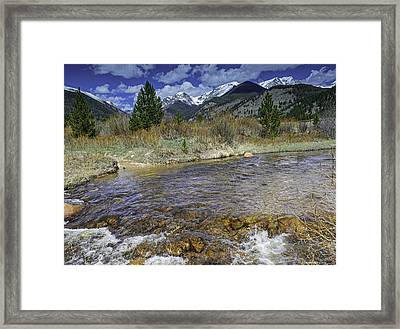 Rocky Mountains Framed Print by Tom Wilbert