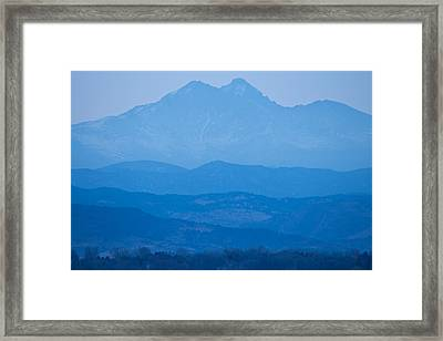Rocky Mountains Twin Peaks Blue Haze Layers Framed Print by James BO  Insogna