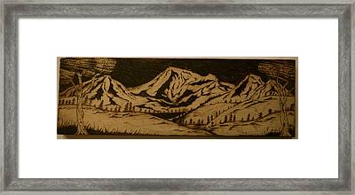 Rocky Mountains Framed Print by William Waters