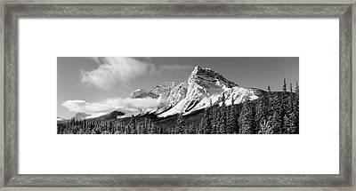 Rocky Mountains, Winter, Alberta, Canada Framed Print