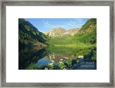 Rocky Mtn Lake Sunrise Framed Print