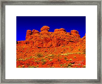Framed Print featuring the photograph Rocky Outcrop by Mark Blauhoefer