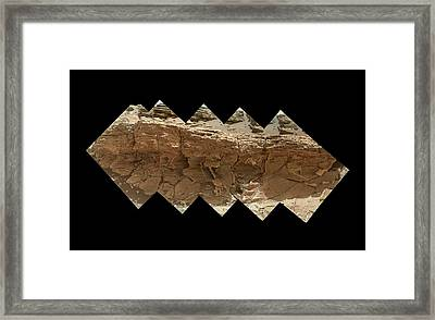 Rocky Outcrop On Mars Framed Print by Nasa/jpl-caltech/msss