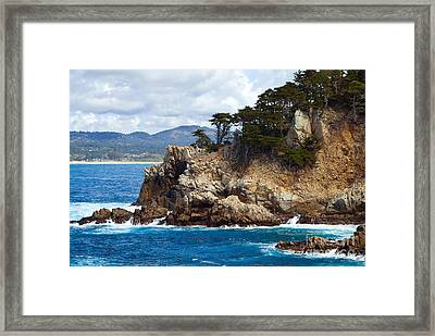Rocky Outcropping At Point Lobos Framed Print