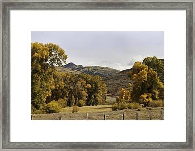 Rocky Peak At Lower Elk River Framed Print by Daniel Hebard