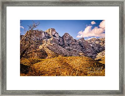 Framed Print featuring the photograph Rocky Peaks by Mark Myhaver