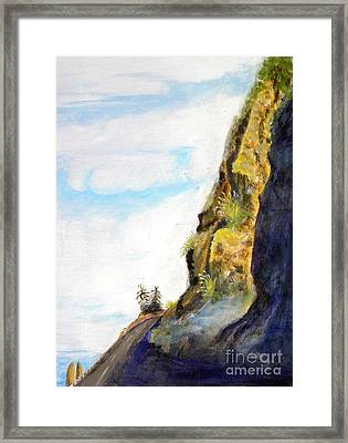 Rocky Point At Big Sur Ca Framed Print by Susan Lee Clark