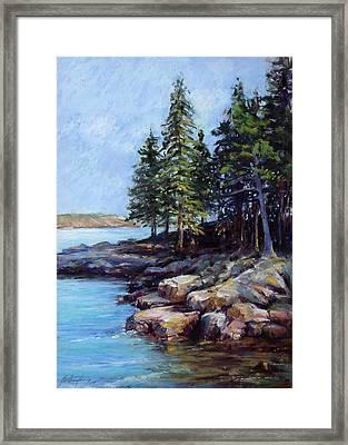 Rocky Point Framed Print by Beverly Amundson