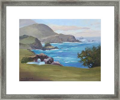 Rocky Point Big Sur Framed Print by Karin  Leonard