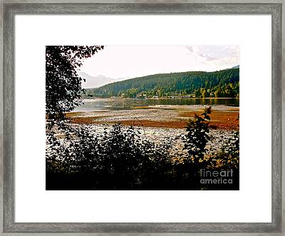 Rocky Point Port Moody Framed Print by Sher Nasser