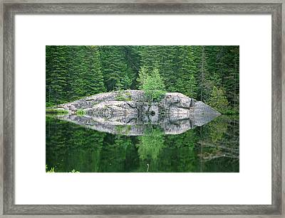 Framed Print featuring the photograph Rocky Reflection by David Porteus