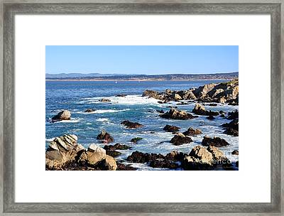 Rocky Remains At Monterey Bay Framed Print by Susan Wiedmann