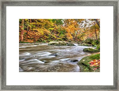 Framed Print featuring the photograph Rocky River by Brent Durken
