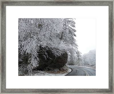 Rocky Road On Ice Framed Print