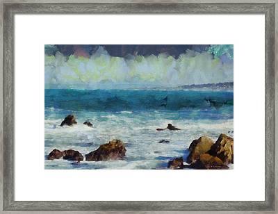 Rocky Seashore Framed Print