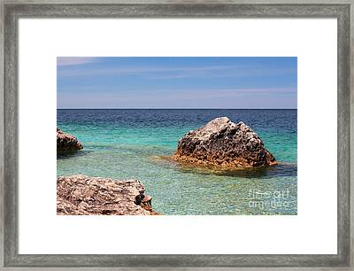 Rocky Shoals Of Tobermory Framed Print